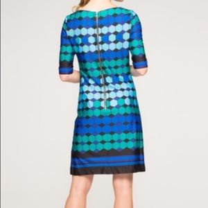 Eliza J Dresses - Eliza J. Missy Geometric Blue Green Shift Dress